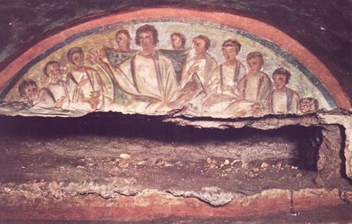 catacombe_domitilla_christus_en_apostlen_(01)_LR