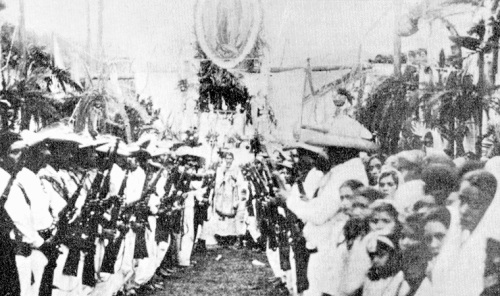 Cristero's onder de banier van de H. Maagd van Guadalupe