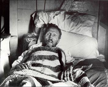 Op zijn ziekbed