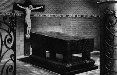 De oorspronkelijke grafkapel te Leuven