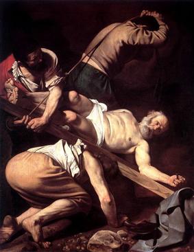 De kruisiging van Petrus