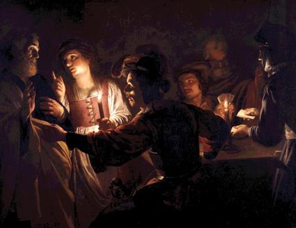'De verloochening door Petrus' (Gerard van Honthorst; 17de eeuw)