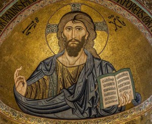 Cefalú, Sicily: The famous mosaic of the Christ Pantocrator, is located in the main altar of the Norman Cathedral, started in 1131 by Roger II, King of Sicily. Of Greek foundation, the city evidently derived its name from its situation on a lofty and precipitous rock, forming a bold headland (Κεφαλὴ) projecting into the sea. Photo: Gustavo Kralj/GaudiumpressImages.com